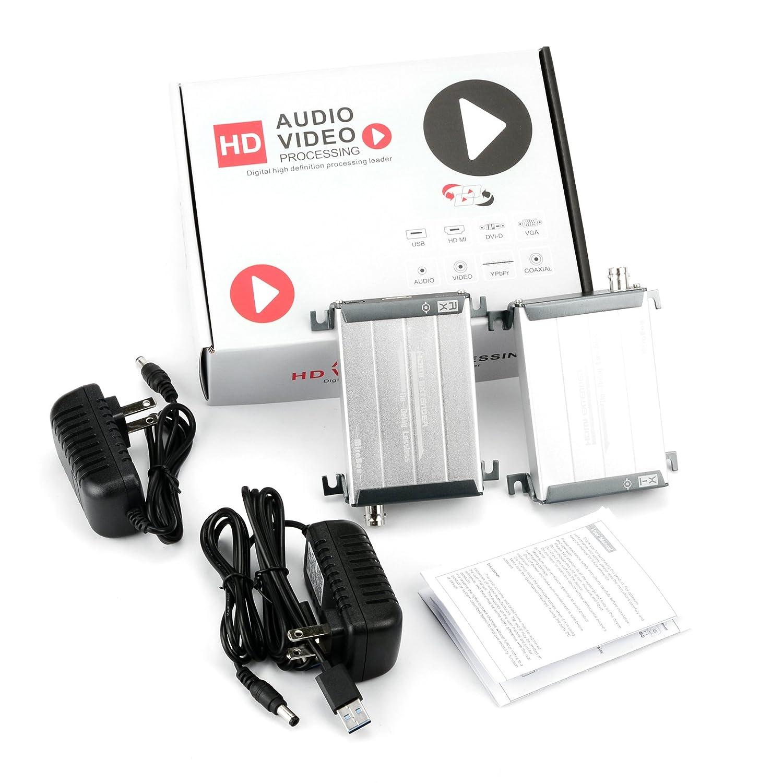 200 M extensor HDMI sobre cable coaxial por solo cable coaxial RG59/RG-6U 1080P sin pérdida no tiempo latencia para DVR, DVD, cine en casa: Amazon.es: ...