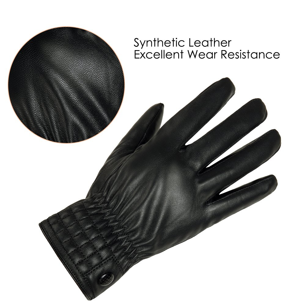Leather driving gloves vancouver - Gloue Uni Sex Leather Gloves Waterproof Women Men Adjustable Gloves In Winter Outdoor Windproof Gloves Black Amazon Ca Sports Outdoors