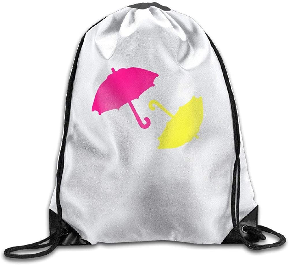 Colorful Umbrella Mens Womens Shoulder Drawstring Bag Drawstring Backpack String Bags School Rucksack Gym Handbag