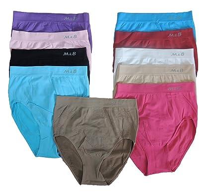 0db4d695bb8447 5 Stück Damen Slips mit Muster Größe 44,46,48,50,52,54: Amazon.de ...