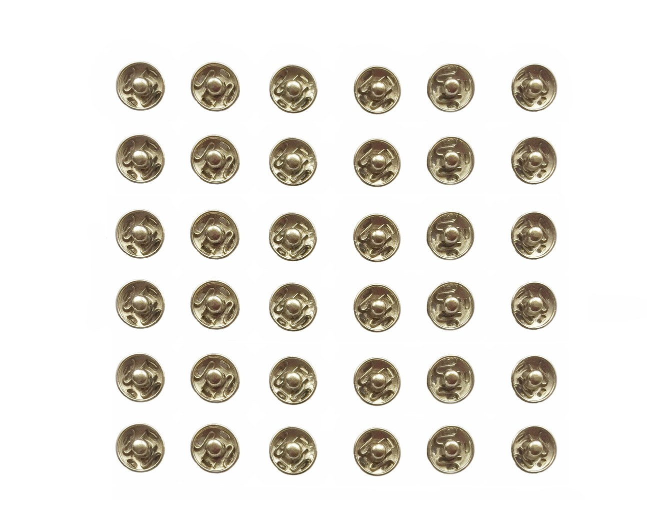 Sewing Hemline Sew On Nickel 9mm Snap Fasteners Poppers Press Studs Rust Proof Brass