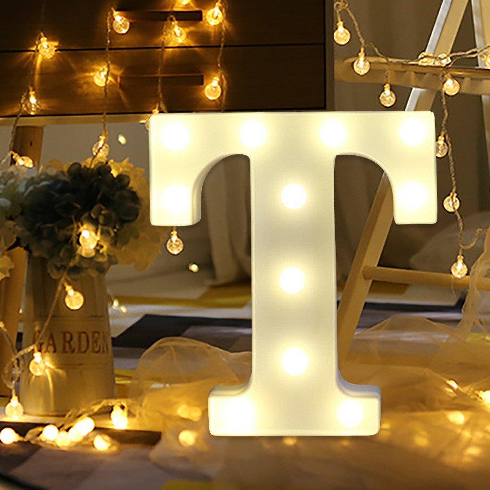 Letras Led Letras Decorativas Letras Alphabet Light Luces De Espejo Del Alfabeto A-Z con Luces de LED para Decoraci/ón de DIY Wedding Party Dormitorio Decoraci/ón A
