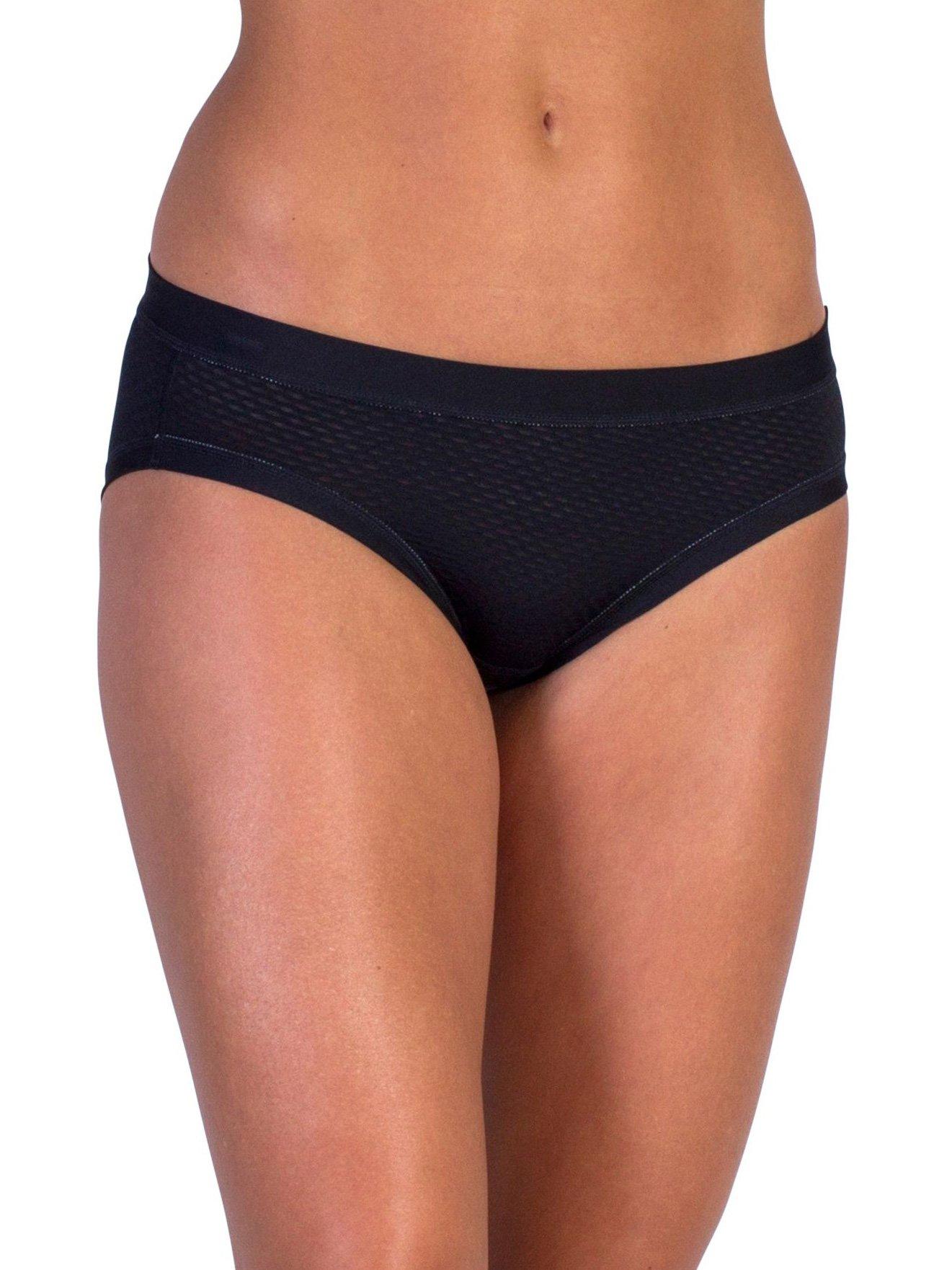 ExOfficio Give-N-Go Sport Mesh Bikini Brief (L - Black)