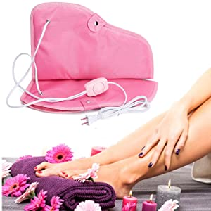 Noverlife Paraffin Wax Heated Booties, Electric Heated Nail Art Manicure Foot Cover, Infrared Wax Therapy Treatment SPA Warmer Kit For Foot Care