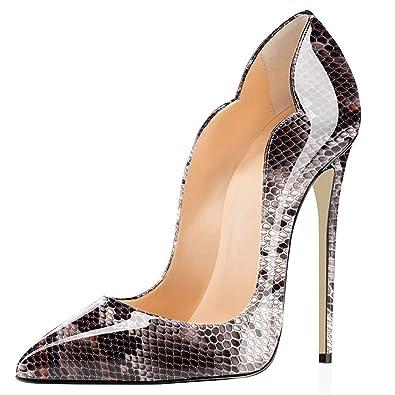 super populaire fee93 29d22 elashe - Chaussures pour Femme - Chaussures à Talon - 12 cm ...