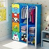 KOUSI Portable Kids Wardrobe Children Dresser Hanging Storage Rack Clothes  Closet Bedroom Armoire Cube Organizer Formaldehyde