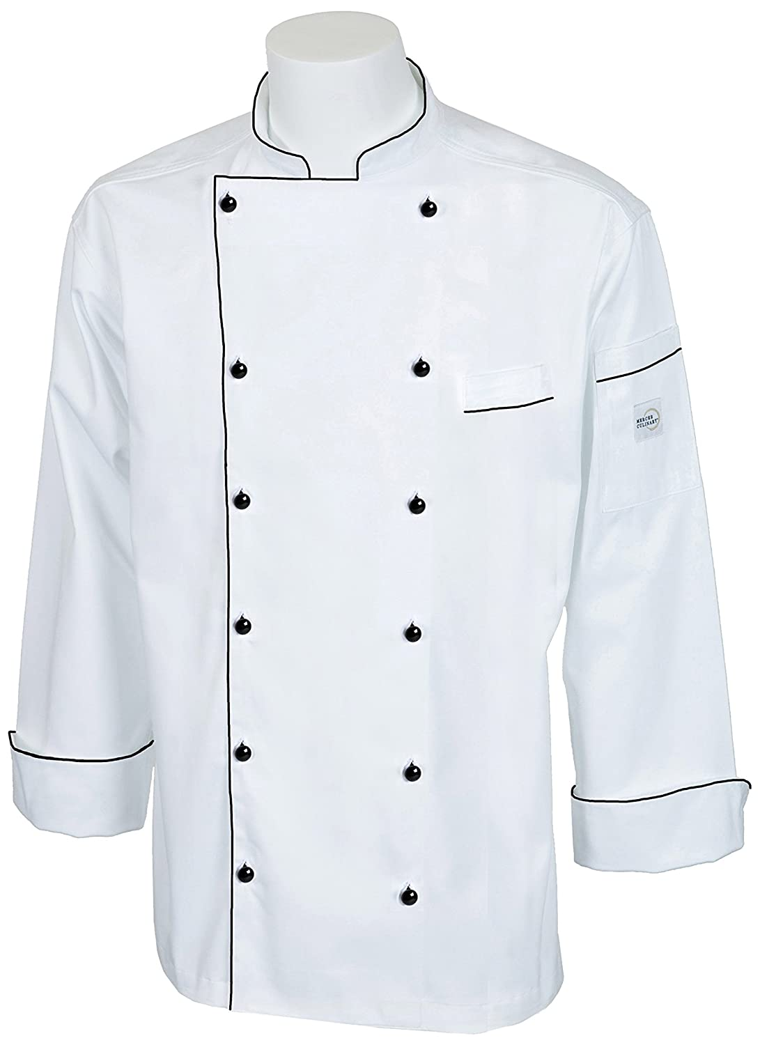 Mercer Culinary M62030WH3X Renaissance Men's Traditional Neck Chef Jacket, 3X-Large, White
