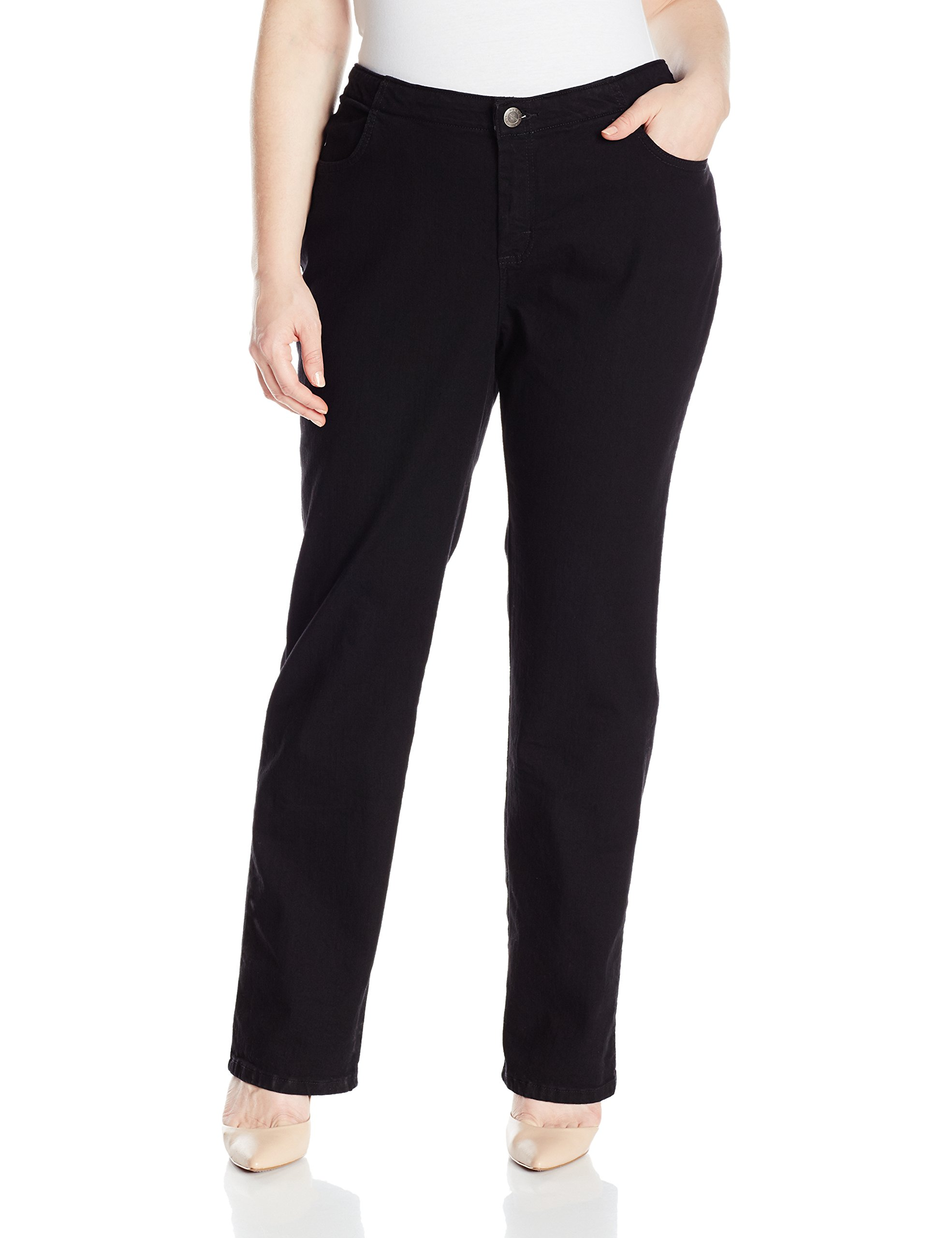 Riders by Lee Indigo Women's Petite Plus Size Comfort Collection Straight Leg Jean, Black, 20P by Riders by Lee Indigo (Image #1)