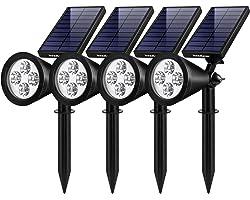 InnoGear Solar Lights Outdoor, Upgraded Waterproof Solar Powered Landscape Spotlights 2-in-1 Wall Light Decorative Lighting A