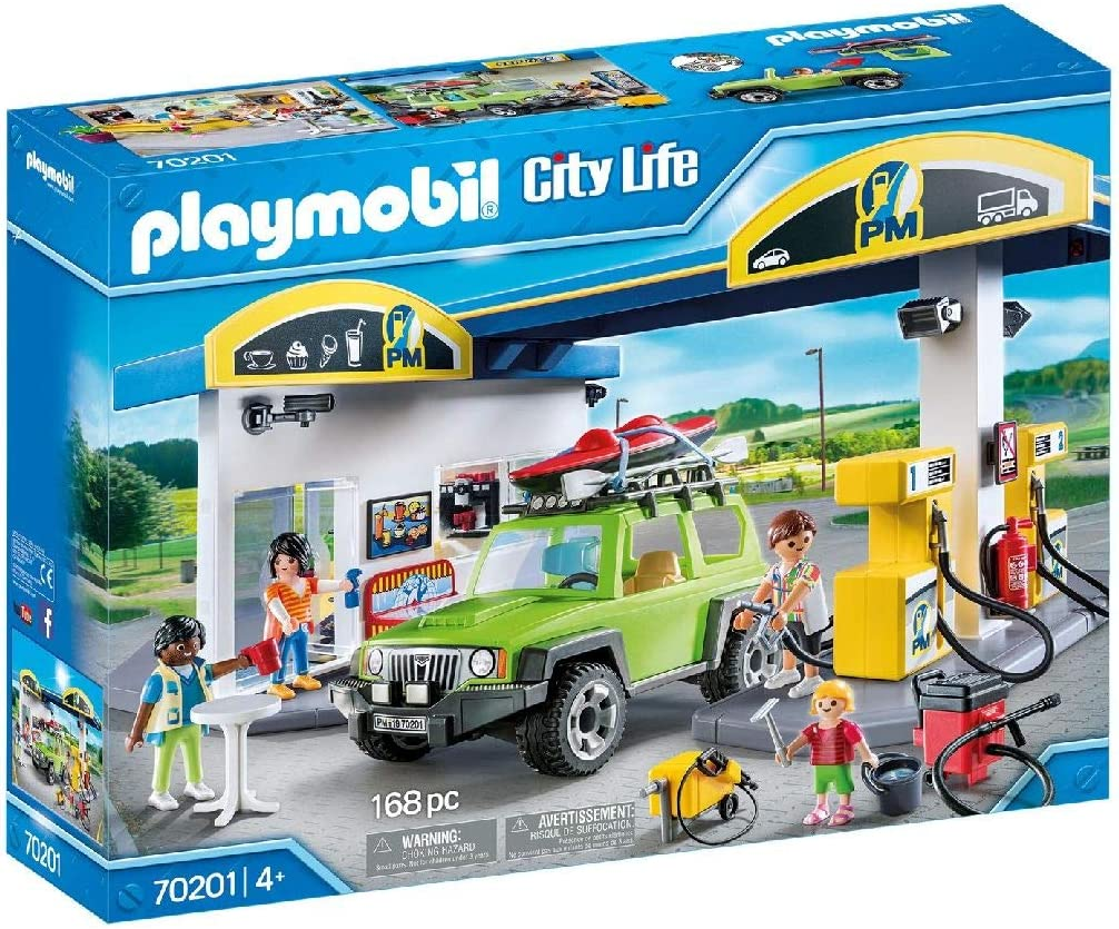 PLAYMOBIL City Life Gasolinera, A partir de 4 años (70201) , color ...