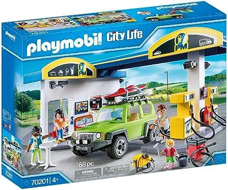 Diversión para los pequeños héroes: PLAYMOBIL Gasolinera, Set de juego con figuras y muchos accesori