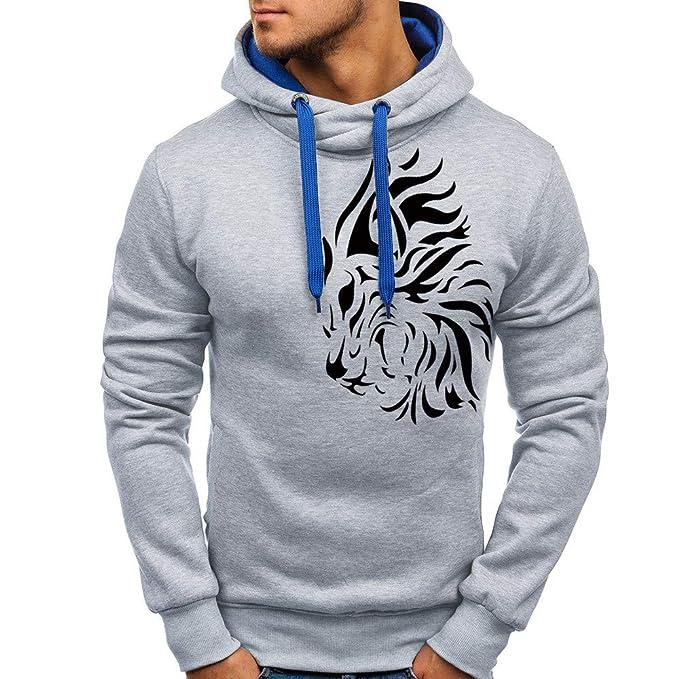Yvelands Liquidación Active Sweaters, Jersey de Hombre Top Impreso Big & Tall Sudadera Outwear Coat Blusa: Amazon.es: Ropa y accesorios