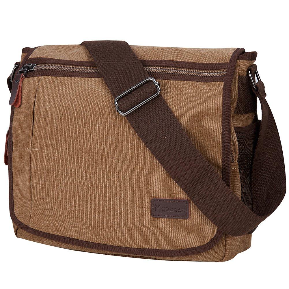 aca891094f7d Laptop Messenger Bag, Modoker Military Crossbody Messenger Bag for ...