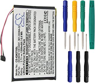 Cameron Sino 1200mAh Battery for Garmin Nuvi 3700, Nuvi 3760, Nuvi 3760T, Nuvi 3790, Nuvi 3790T with 7/pcs Toolskits