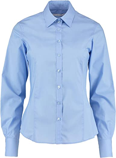 Kustom Kit - Camisa de manga larga para mujer Azul azul 54: Amazon.es: Ropa y accesorios