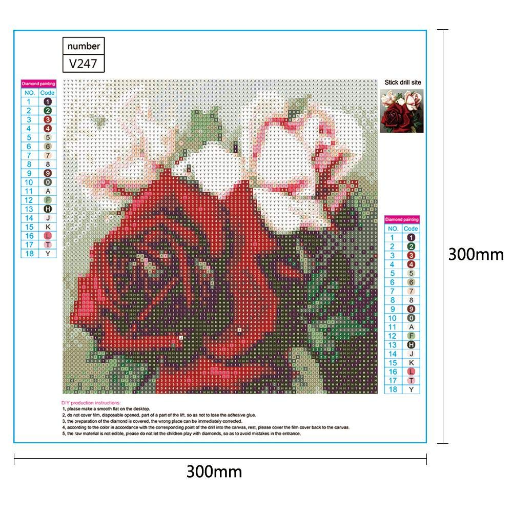 5D DIY Full Drill Diamond Painting Pink Lady Cross Stitch Embroidery Mosaic