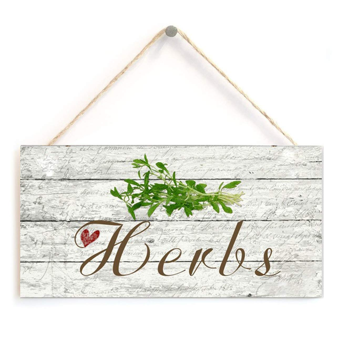 """Garden Sign Rustic Style Ornate Garden Sign 5/"""" x 10/"""" Wood Sign"""