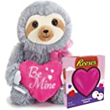 "4195b9533da Deluxe Present Combo for Valentine s Day – Adorable ""Be Mine"" Cute Sloth  Plush"