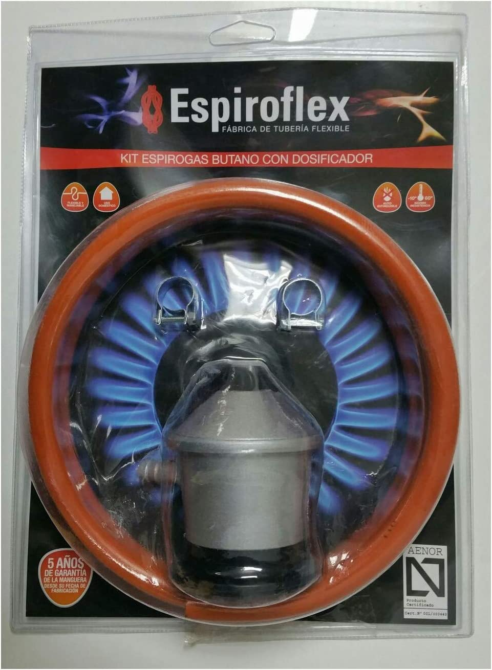 Espiroflex M119547 - Regulador butano con 1.50 m manguera ...