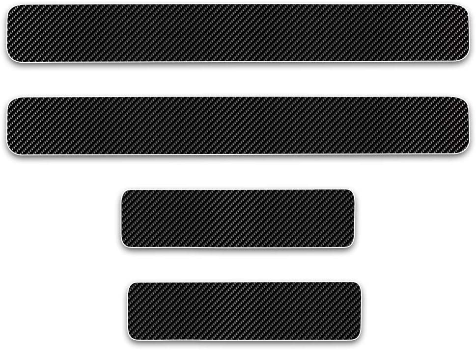 GEERUI 4PCS Threshold Protection Sticker Reflective Carbon Fiber Sticker Decorative Door Entry Guard Door Threshold Scratch Pad Film for Ford F-150. Blue