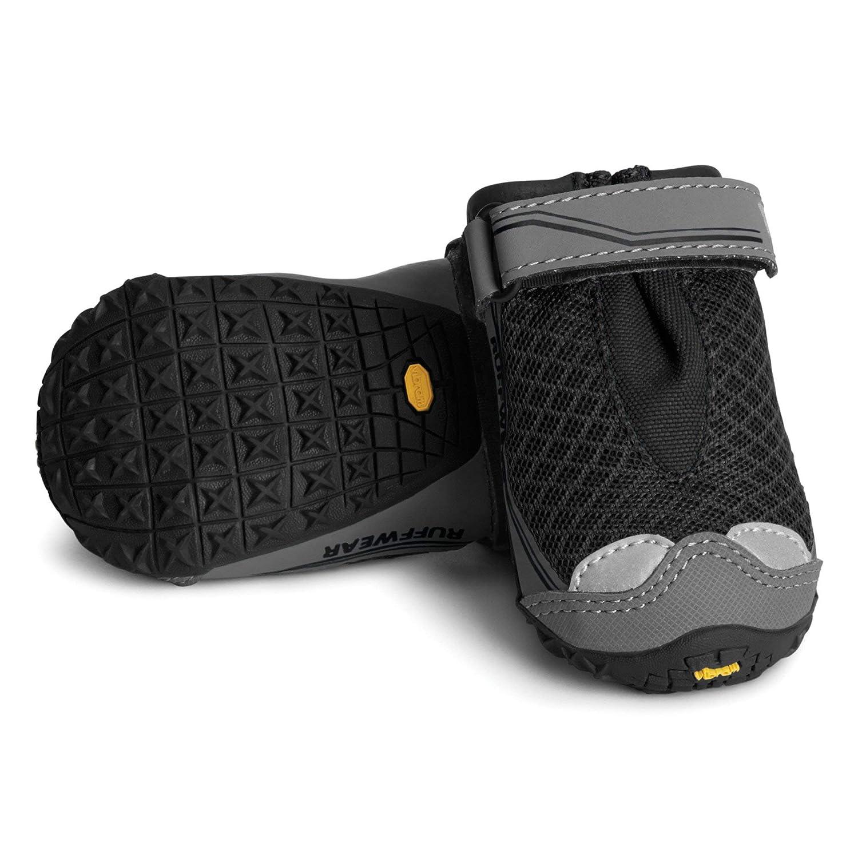Obsidian Black 2.0 in (2 Boots) Obsidian Black 2.0 in (2 Boots) RUFFWEAR Grip Trex Boots for Dogs, Obsidian Black, 2.0 in (Set of 2)