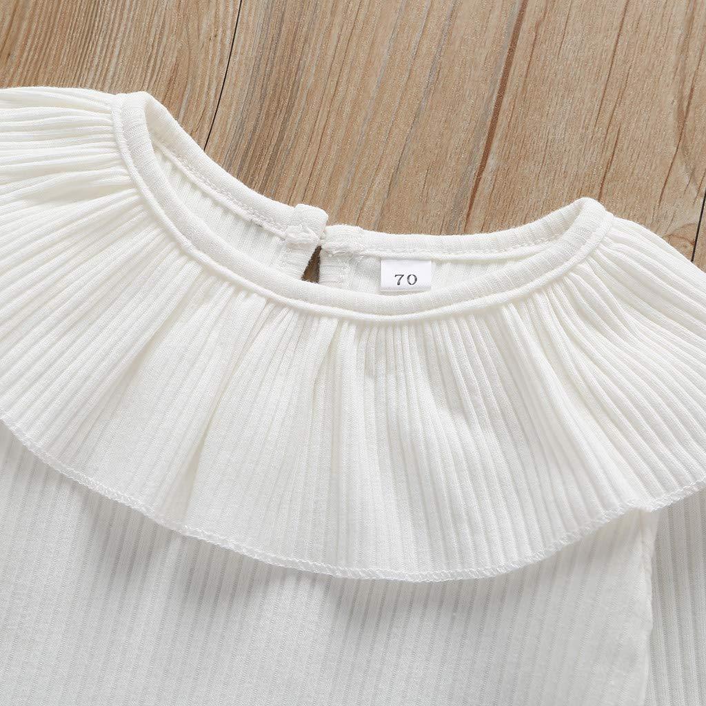 Pantalons DAY8 Ensemble B/éb/é Fille Naissance Pas Cher a la Mode Chic sous-Vetement Bebe Gar/çon Hiver Pyjama Bebe Fille Hiver Haut Blouse Bebe Fille Manche Longue Printemps
