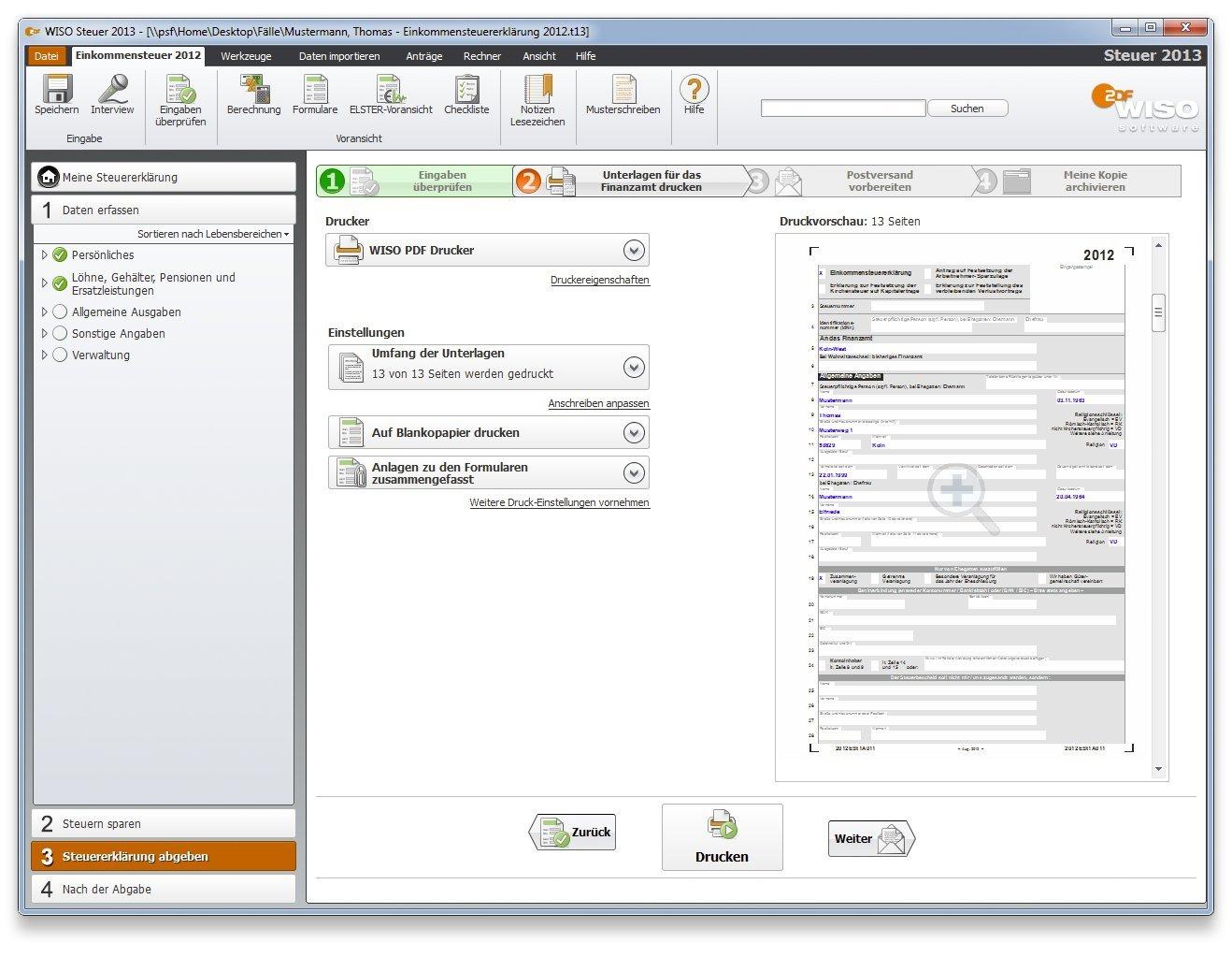 steuersoftware 2013