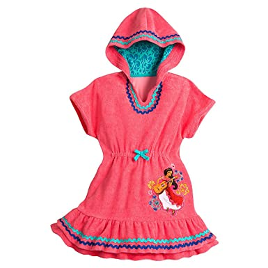 fbf0a162bd668 Amazon.com: Disney Elena of Avalor Swim Cover-Up for Girls - Pink ...