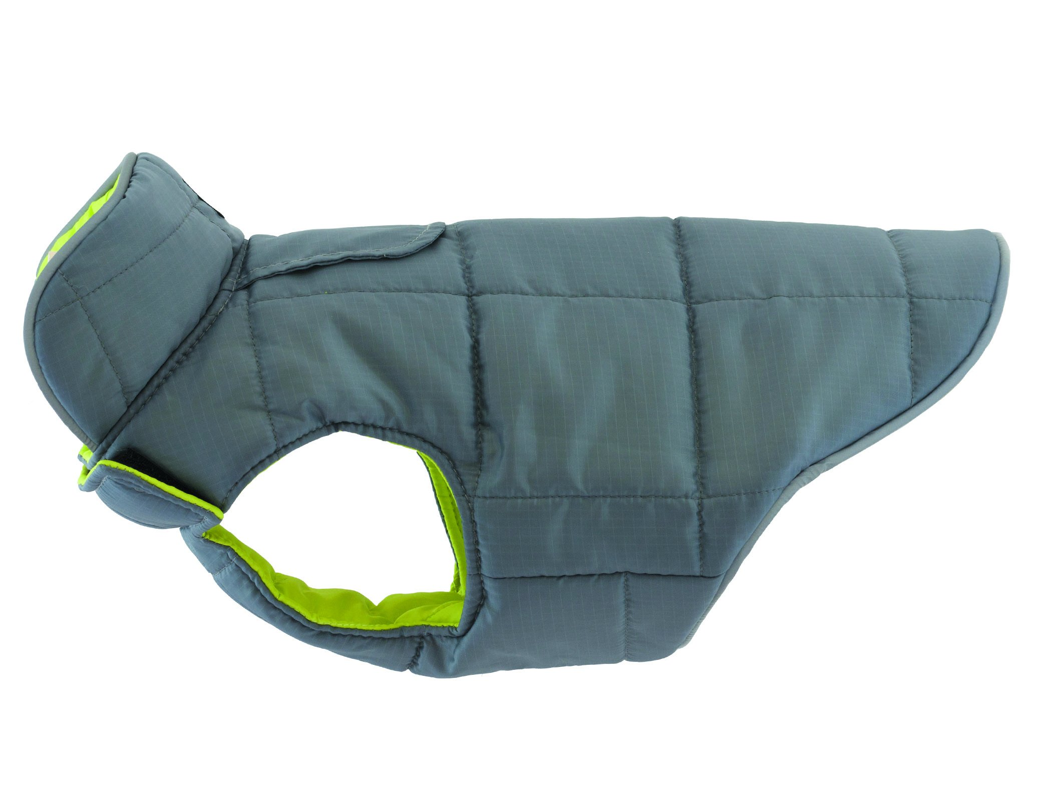 RC Pet Products Skyline Puffy Vest, Reflective, Water-Repellent, Reversible Dog Coat, Size 10, Lime/Charcoal by RC Pet Products (Image #2)