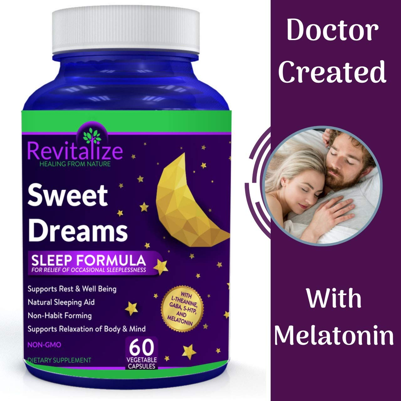 Amazon.com: Melatonin Sleep Supplement with GABA, 5-HTP, L-Theanine - Sweet Dreams by Dr. Valerie Nelson – All Natural for Restful Sleep: Health & Personal ...
