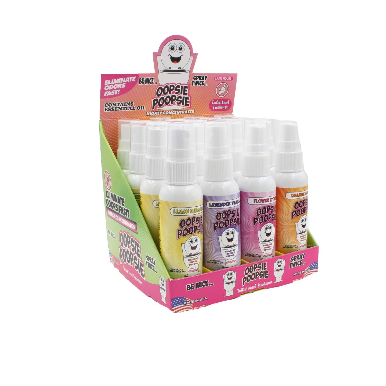 Oopsie Poopsie Before-You-Go Toilet Spray (Lemon/Lavender/Flower/Orange, Case Pack)