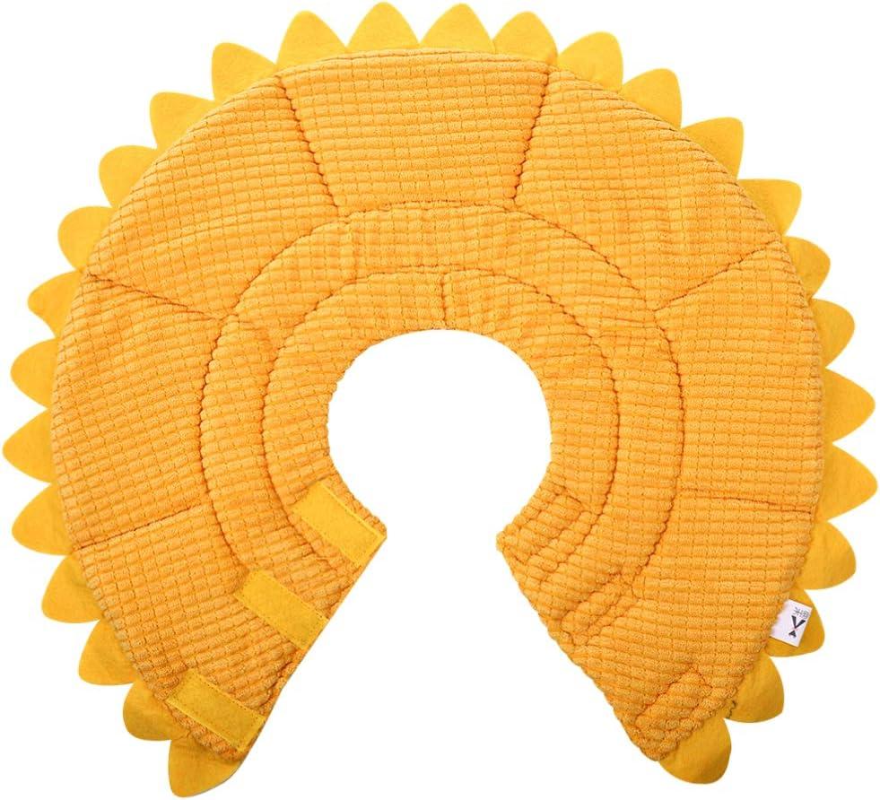 POPETPOP Collar Isabelino para Perros Cono Suave para Perros Forma de Girasol Cuello Suave Extraíble Anillo Circular para Mascotas Collar para Mascotas