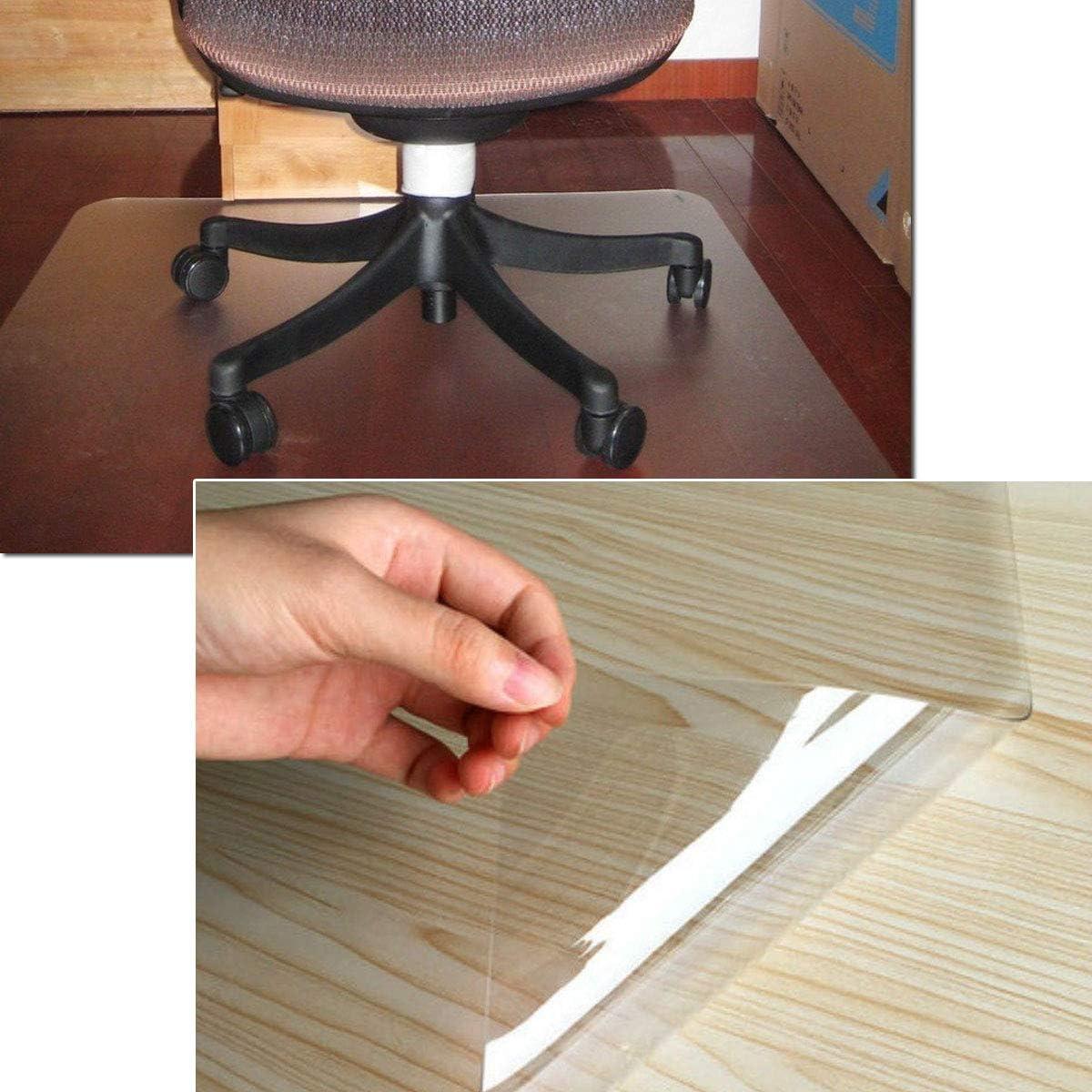MultiWare Tapis Prot/ège-sol Chaise De Bureau Pour Parquets Transparent Rectangle