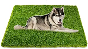 Artificial Grass, Professional Dog Grass Mat, Potty Training Rug and Replacement Artificial Grass Turf, Large Turf Outdoor Rug Patio Lawn Decoration, Easy to Clean with Drainage Holes