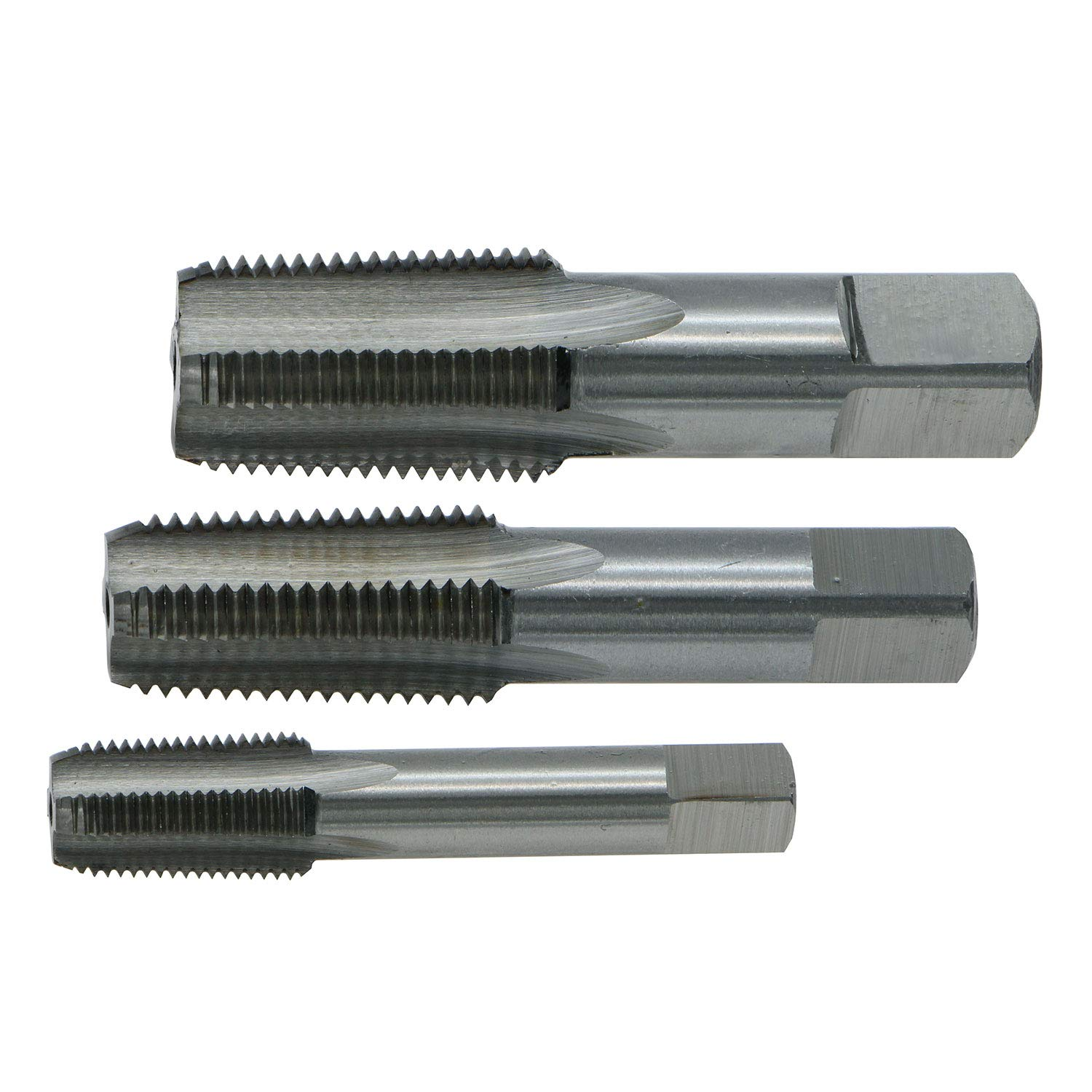 GZTool 1/8, 1/4 and 3/8 NPT Pipe Tap Set Right Hand Thread High Speed Steel HSS by GZTool