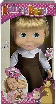 Muñeca cantarina de Masha y el Oso de 30cm con ... - Amazon.es