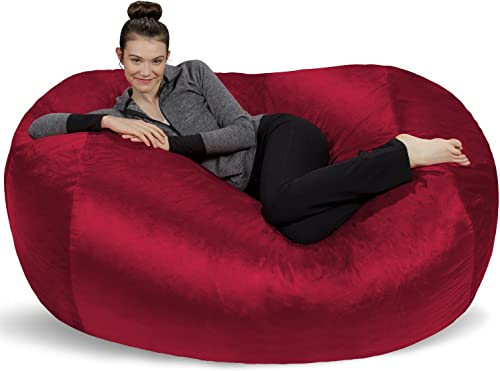 Sofa Sack – Plush Bean Bag Sofas with Super Soft Microsuede Cover – XL Memory Foam Stuffed Lounger Chairs for Kids, Adults, Couples – Jumbo Bean Bag Chair Furniture – Cinnabar 6
