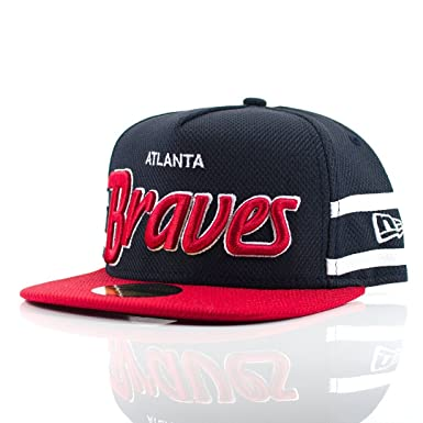 85918ac9ab2 Image Unavailable. Image not available for. Colour  New Era 59FIFTY   Diamond Mark  Atlanta Braves Navy Red White Fitted Cap