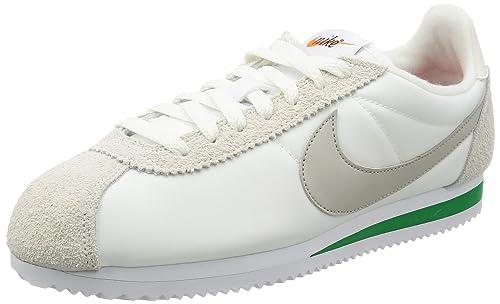 watch 71378 0f48d NIKE Men s Cortez Nylon Prem Gymnastics Shoes, White (Ivory Pale Grey-Pine
