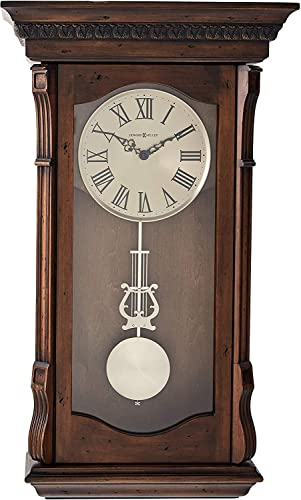 Howard Miller Agatha Wall Clock 625-578 Acadia Finish with Quartz, Triple-Chime Movement