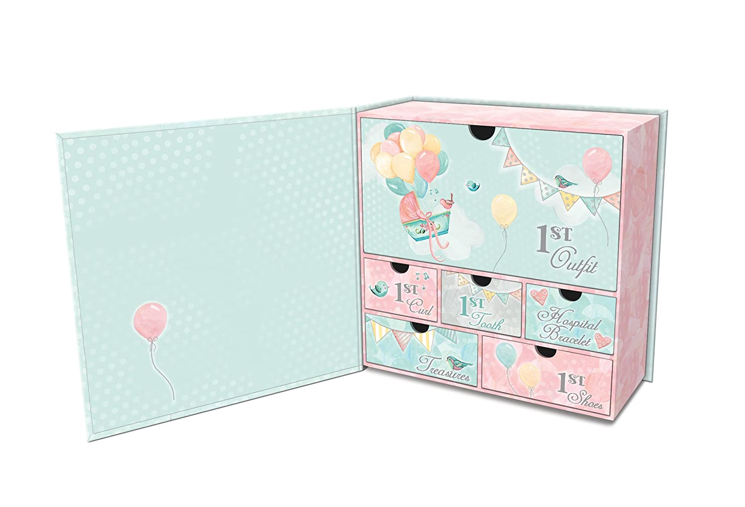 Lady Jayne Balloon Adventure Babys First Memory Keepsake Box