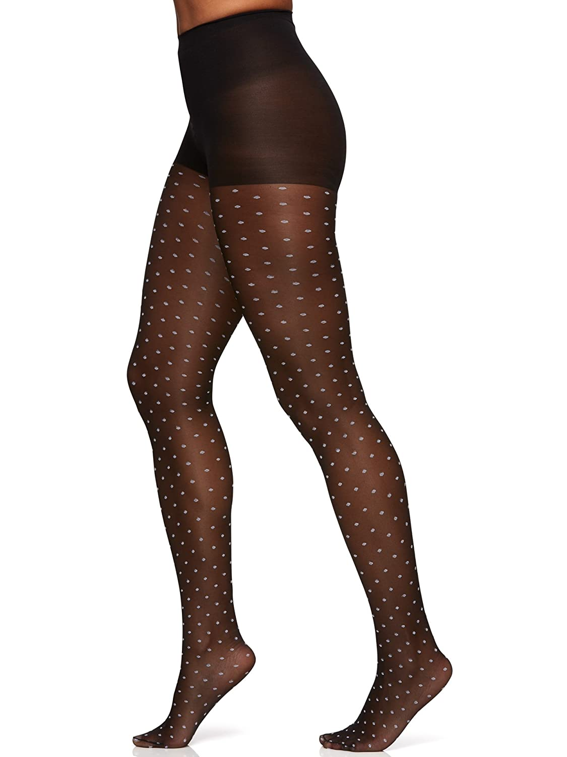 Berkshire womens Trend Two Tone Sheer Dots Control Top Pantyhose 8033