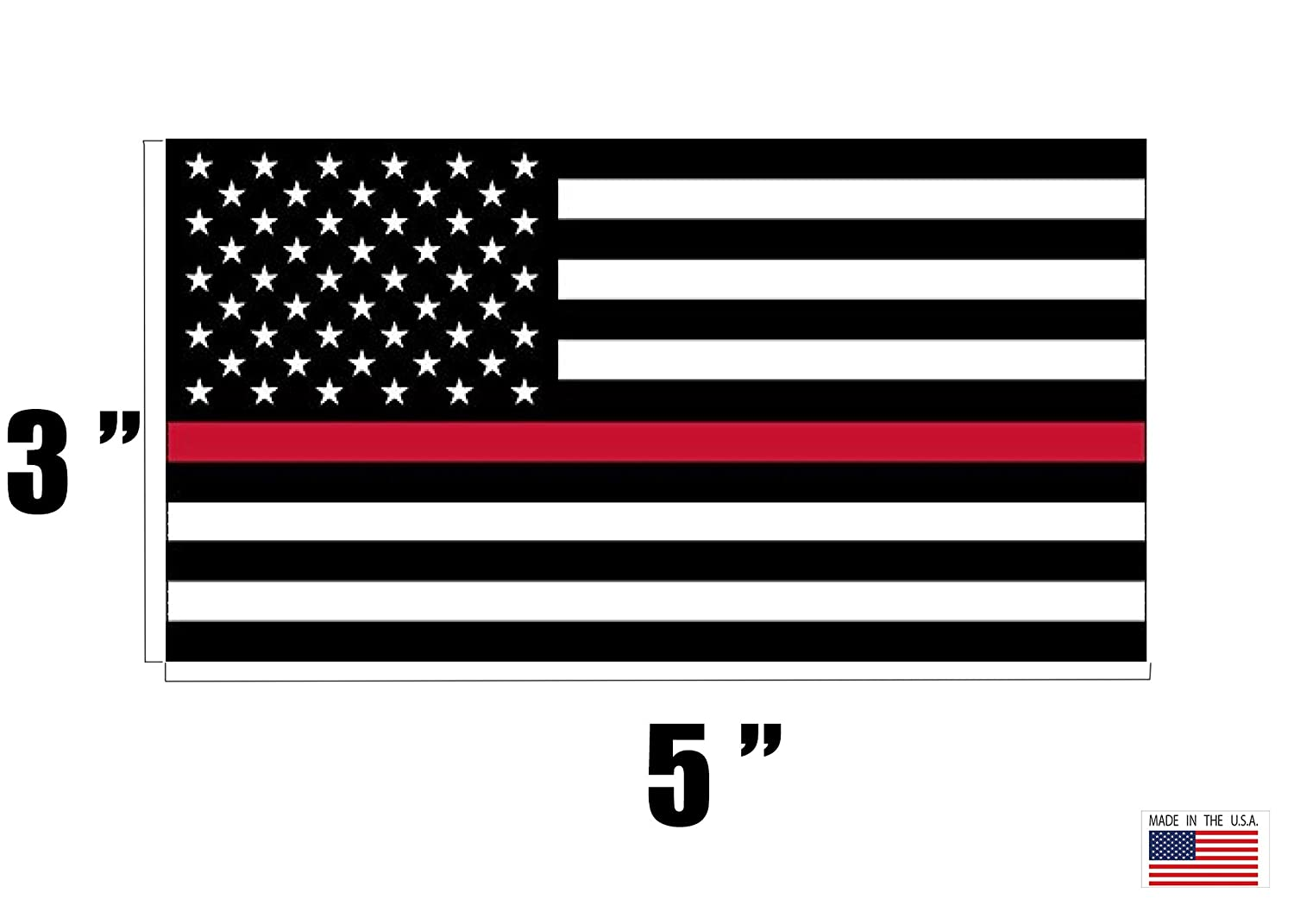 Rogue River Tactical Thin Red Line Firefighter Flag Sticker Support of Fire Fighters Fireman EMT USA RDW61