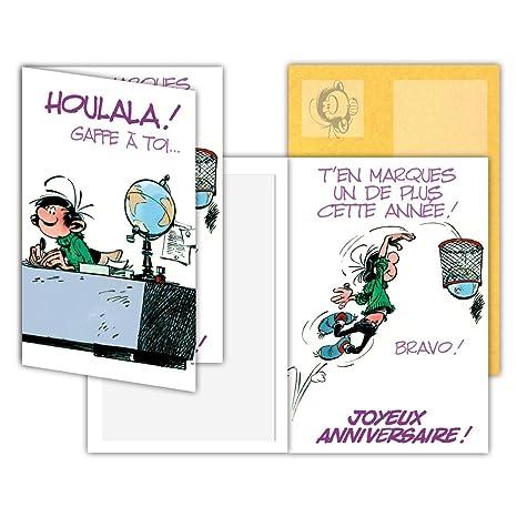 Gaston Lagaffe glct-0140 tarjeta de cumpleaños con diseño de ...
