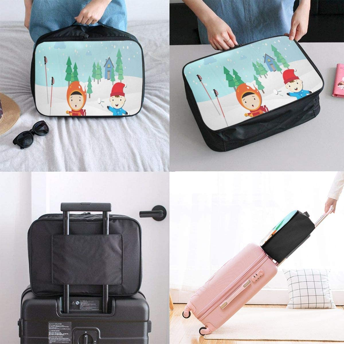 Travel Bags Winter Weather Portable Suitcase Trolley Handle Luggage Bag