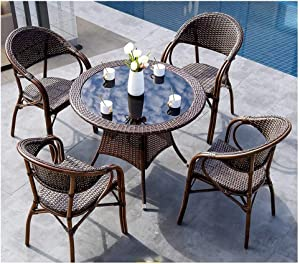 DYYD Garden Furniture Sets Outdoor Furniture Ratan Patio Furniture Set Patio Conservatory Indoor Outdoor Coffee Table Patio Conversation Outdoor