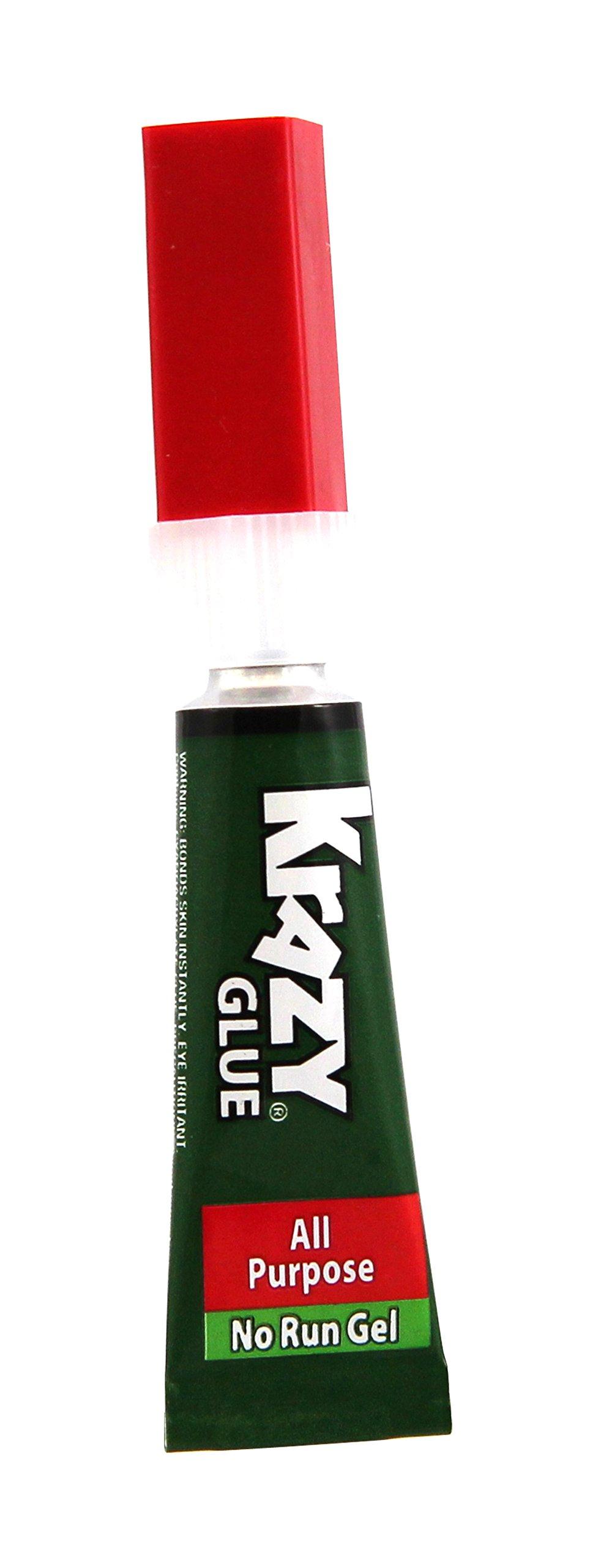 Krazy Glue EPIKG86648R KG86648R Glue with All-Purpose Gel, 0.07 Oz, Clear