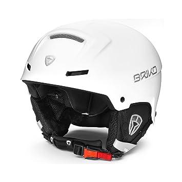 Briko Faito Casco Esquí Unisex Adulto, Blanco (Matt White Ash), S (