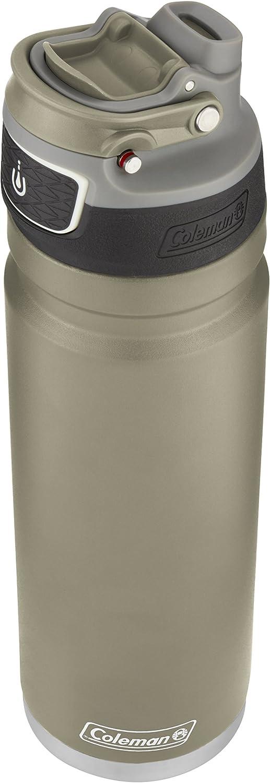 Coleman FreeFlow - Botella de Agua de Acero Inoxidable con Aislamiento automático