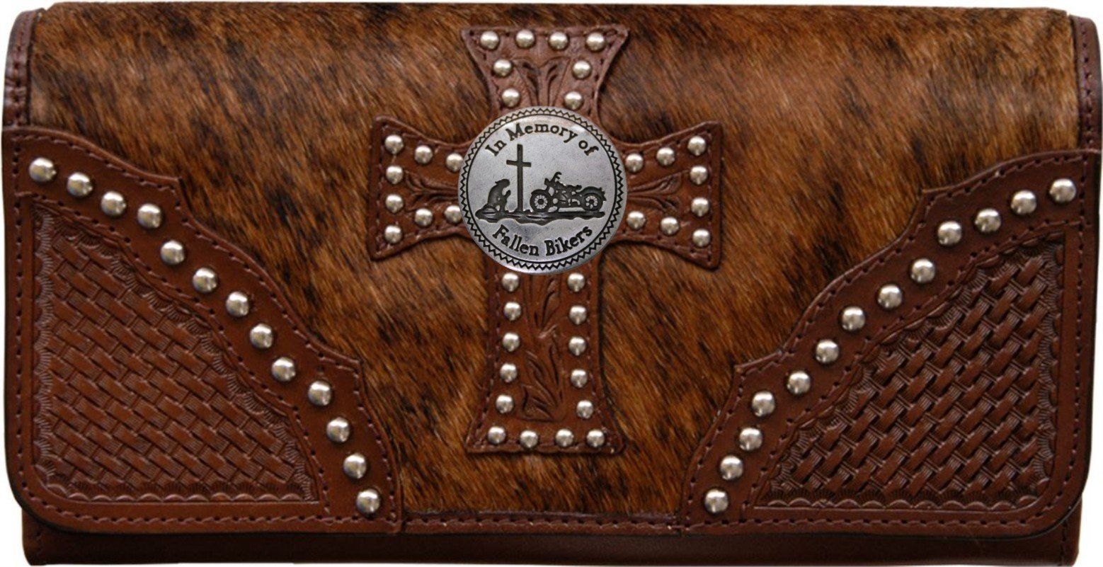 Custom Fallen Bikers Natural Hair Christian Clutch Wallet with removable checkbook